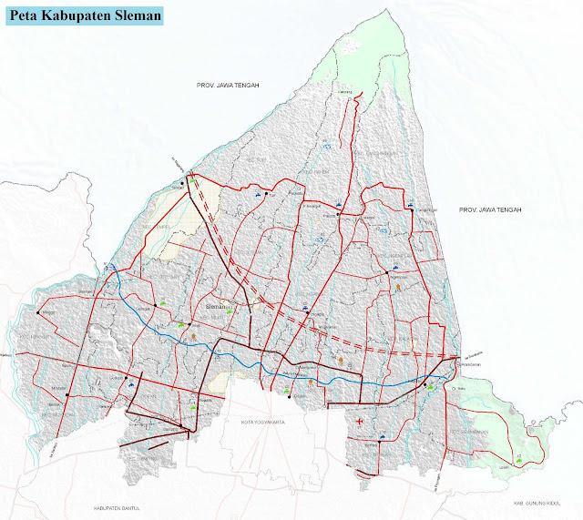 Peta Kabupaten Sleman HD