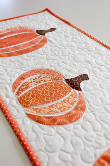 Fall pumpkin table runner