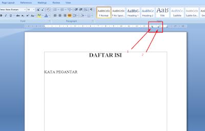 Cara Membuat Daftar Isi dengan Titik-Titik Otomastis di Word 17