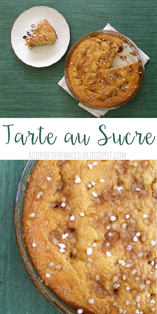 "Tarte au sucre (literally ""sugar tart"") is a specialty from the North of France. A thin round brioche is topped with a mixture of heavy cream and light brown sugar. This classic French dessert is easier to make than it looks !"