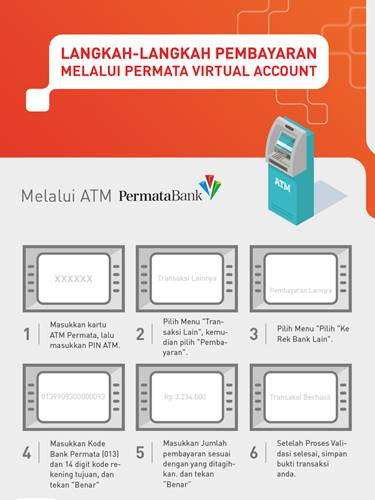 Tata Cara Pembayaran VA Bank Permata melalui ATM Permata
