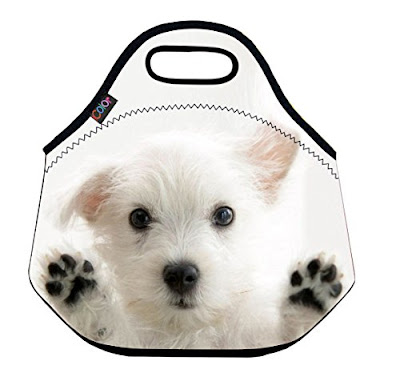 soft lunch pail with dog images