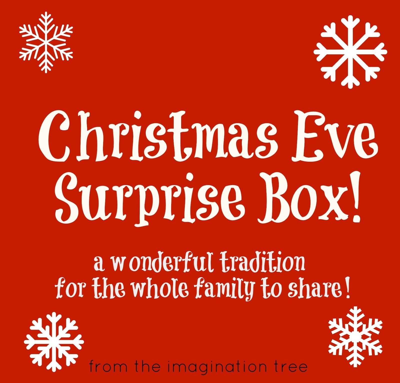 Christmas Eve Surprise Box The Imagination Tree