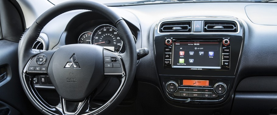 2016 Mitsubishi Mirage Dashboard View
