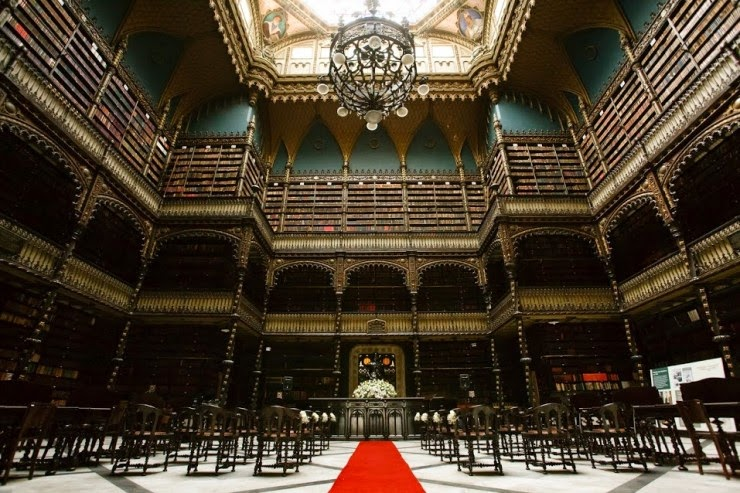 18. Royal Portuguese Reading Room, Rio de Janeiro, Brazil - 31 Incredible Libraries and Bookstores Around the World