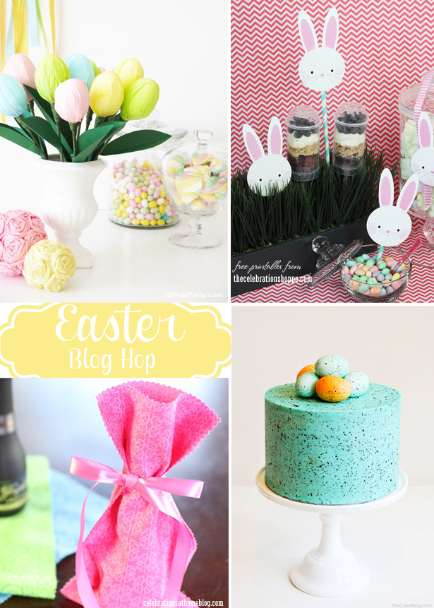 DIY Easter Egg Centerpiece Tutorial + 3 More Easter Party Ideas  - BirdsParty.com