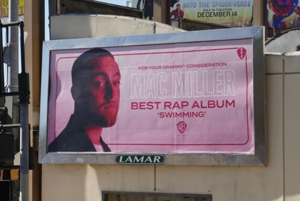Mac Miller Swimming Grammy FYC rap album billboard