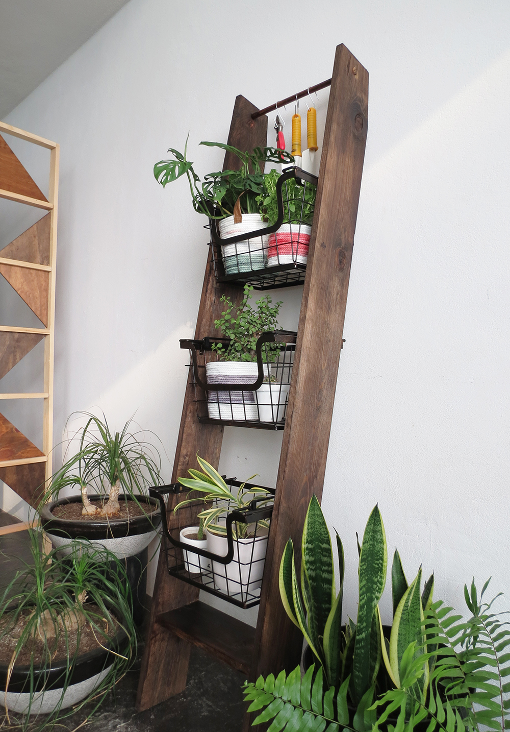 how to create a vertical plant display ohoh blog. Black Bedroom Furniture Sets. Home Design Ideas