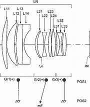 Оптическая схема Konica-Minolta 50mm f/1.4 для камер MFT