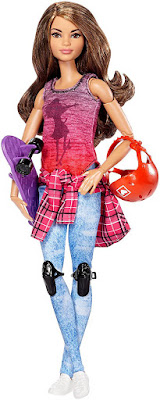 BARBIE Movimientos | Made to Move Staker - Monopatin - skate | Muñeca Articulada CONTENIDO JUGUETE
