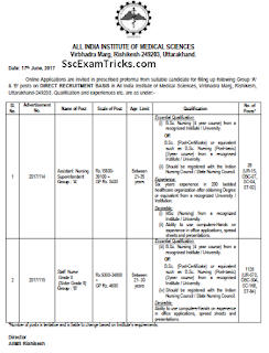 AIIMS Staff Nurse Recruitment