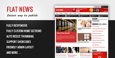 FLATNEWS Premium Blogger Template