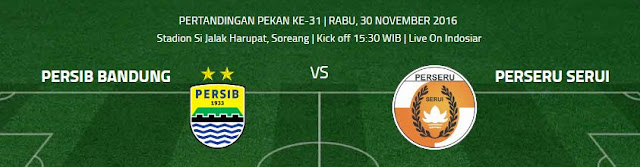 Siaran Langsung Persib Bandung vs Perseru Serui