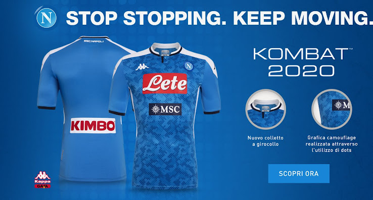 Napoli 19 20 Home Kit Released Footy Headlines