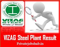 VIZAG Steel Plant Result
