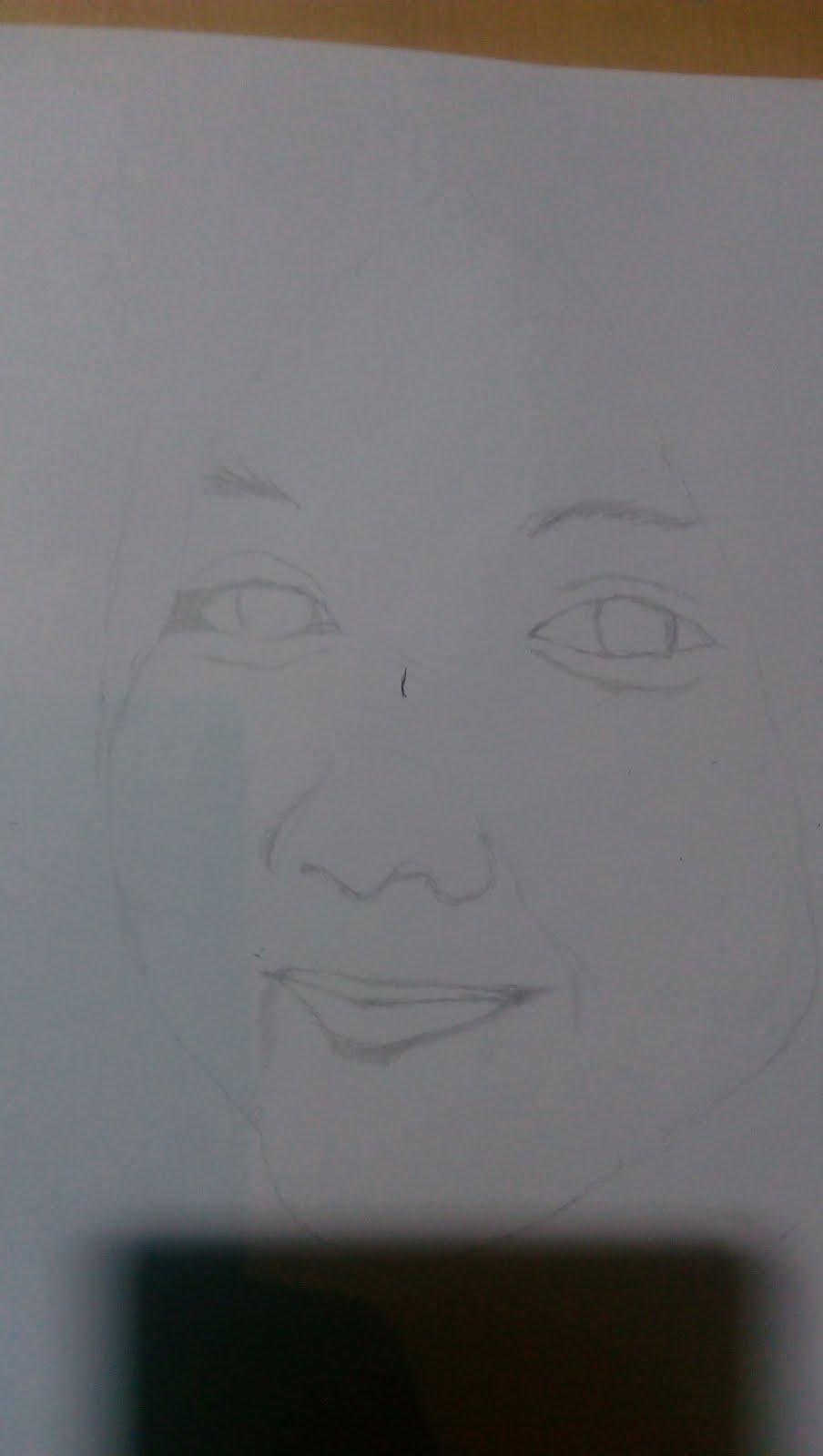 Menggambar Sketsa Wajah Perempuan Kerudung Artit Sawawa