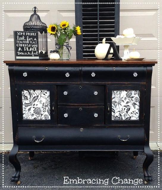 vintage black dresser