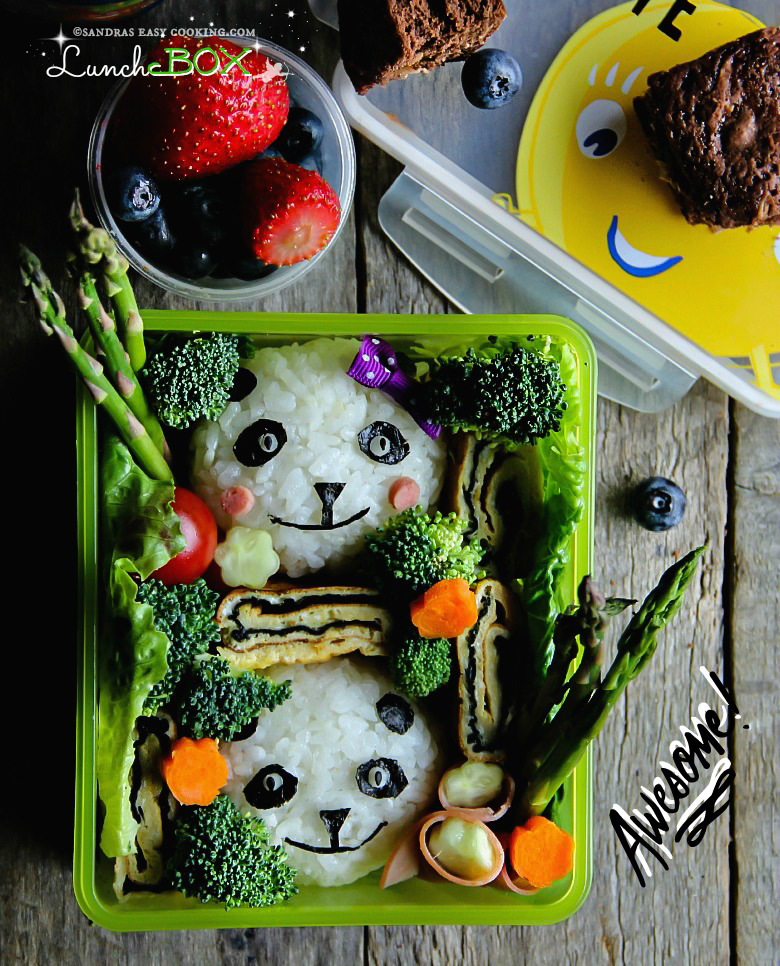 Lunch Box: Panda Bento  #bento #dosirak #homemade #pandabento