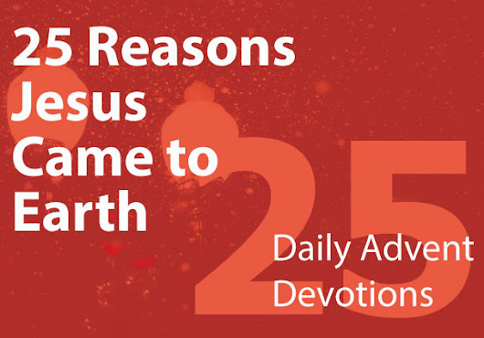 25 Reasons Jesus Came to Earth: Daily Advent Devotions