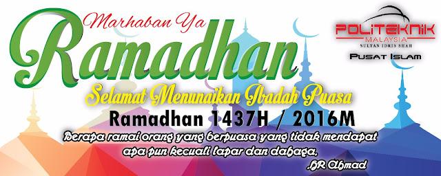 Selamat Menyambut Bulan Ramadhan 1437H