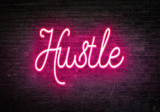 neon sign hustle