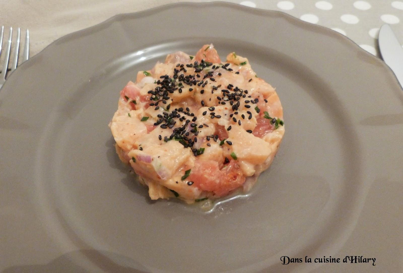 Tartare de saumon au pomélo