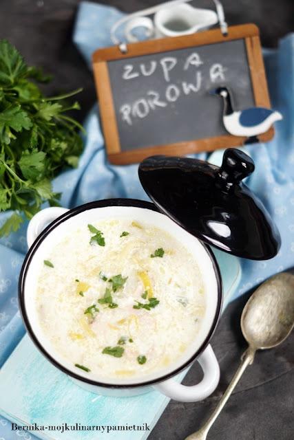 zupa, pory, obiad, warzywa, ziemniaki, bernika, kulinarny pamietnik