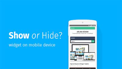 cara mengatasi widget blogger yang tidak muncul di tampilan mobile