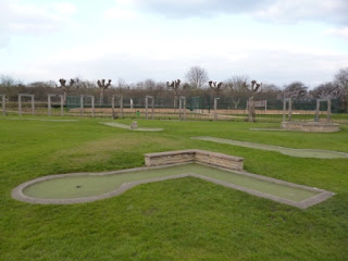 Wimbledon Park's Crazy Golf course in March 2013