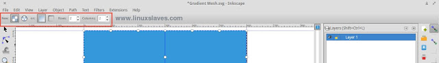 Make gradient meshes in inkscape