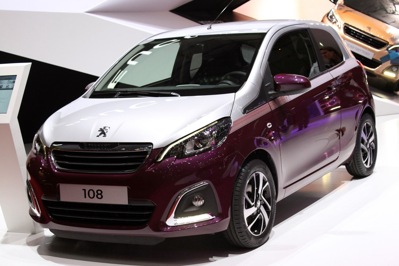 © Automotiveblogz: Peugeot 108: Geneva 2014 Photos