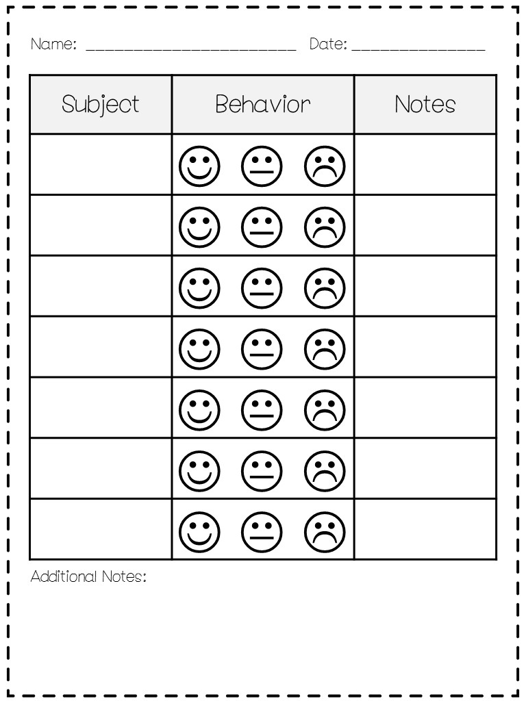behavior charts for preschoolers template classroom behavior mrs wills kindergarten
