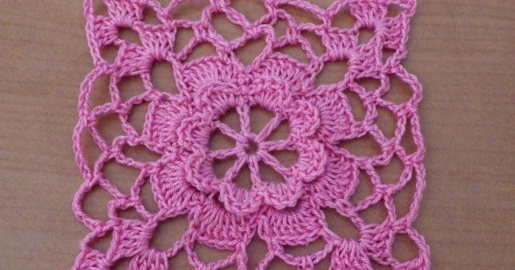 Girlies Crochet Flower Square Motif