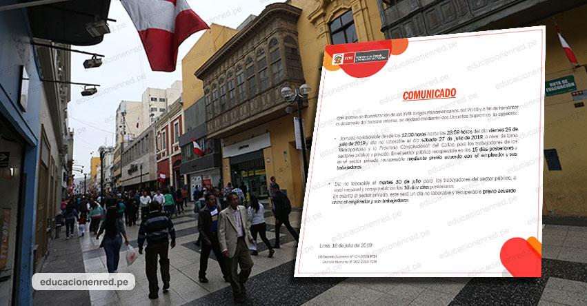 Martes 30 de Julio será día no laborable en todo el país, informó el Ministerio de Trabajo y Promoción del Empleo - www.trabajo.gob.pe