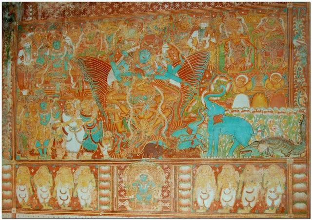 Mural painting in Krishnapuram old palace - Alappey Kerala