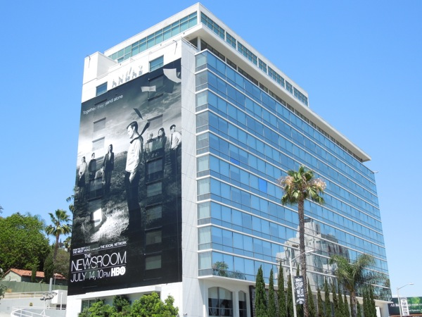 Newsroom season 2 giant billboard