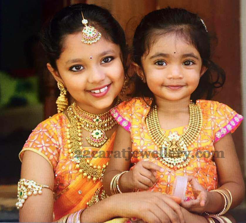 Adorable Kids In Traditional Jewelry Jewellery Designs