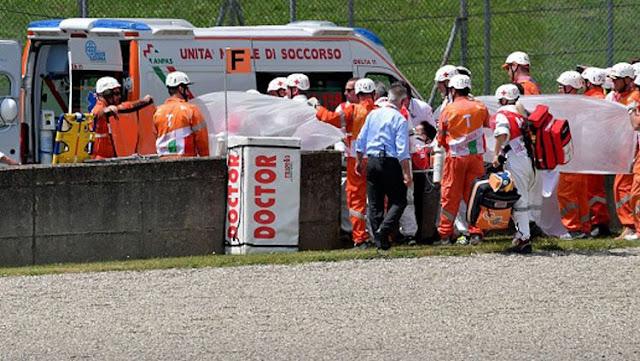 Michele Pirro pembalap Ducati mengalami kecelakaan yang mengenaskan