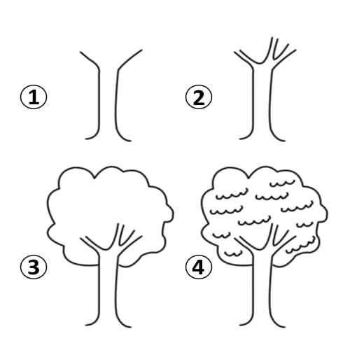 كيفية رسم شجرة خطوة بخطوة