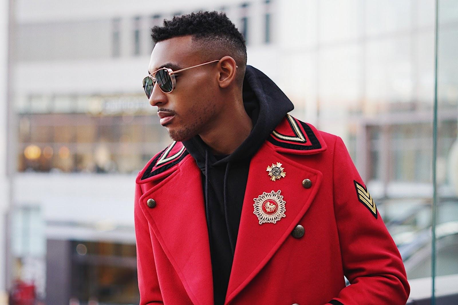 military coats men how to style a military coat zara men coats mens fashion mens style quay sunglasses