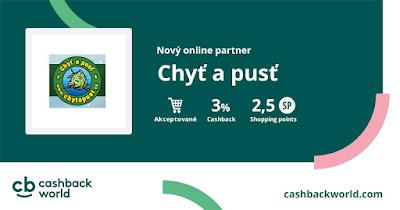 Chyť a pusť - nový partner Cashback World (Lyoness)
