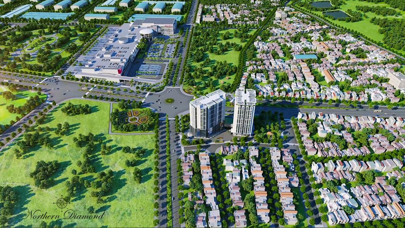 Phối cảnh dự án Northern Diamond Long Biên