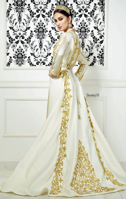 nouveau caftan mariage blanc de luxe