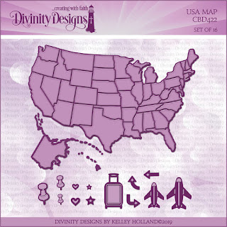 Divinity Designs LLC Custom USA Map Dies