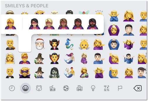 Emojis: Tonos de piel - MasFB