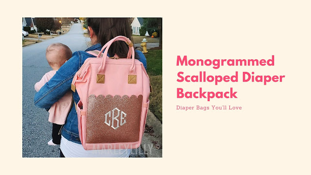 diaper backpack in pink