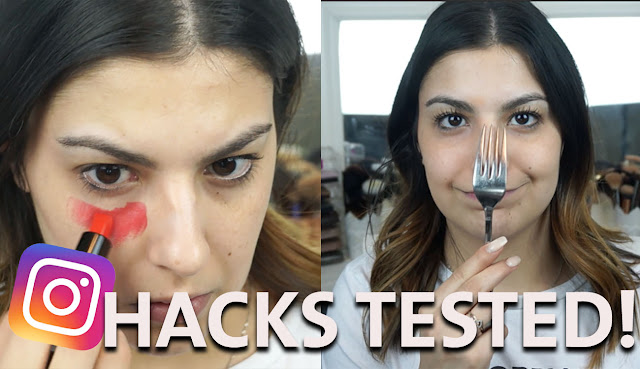 Testing Instagram beauty hacks
