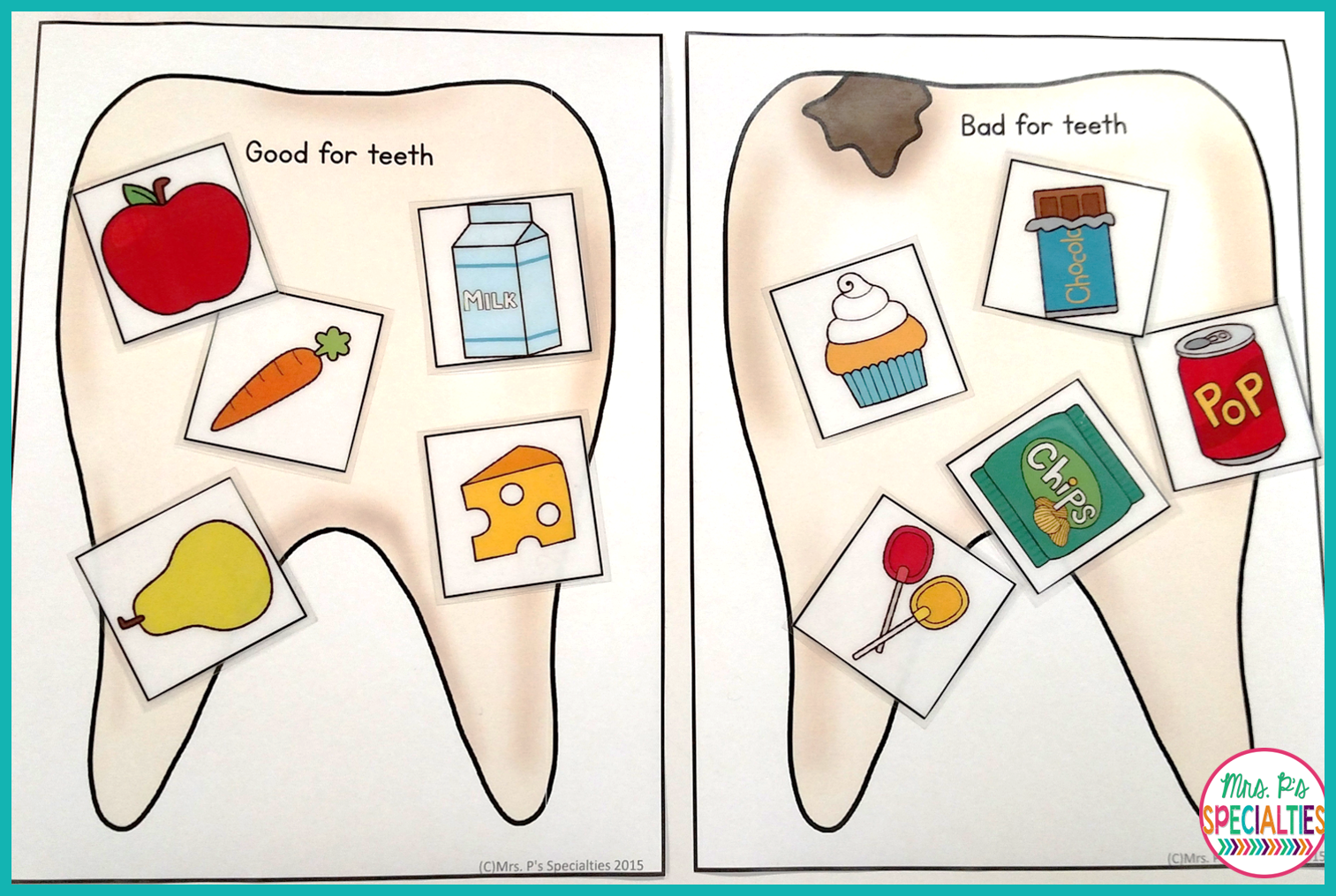 Dental Health Lesson And A Freebie