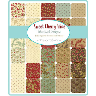 Moda Sweet Cherry Wine Fabric by Blackbird Designs for Moda Fabrics
