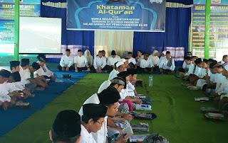 Tempa Kepribadian Warga Binaan Rutan Selong dan Praya Gelar Khataman Al Qur'an